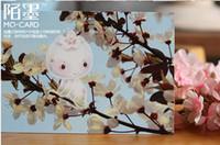 Wholesale vintage cute Elves singing postcards set Birthday Card Greeting Card Gift Card wishcard Fashion Gift