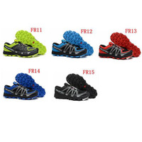 Wholesale Top Quality Trail Shoes Mens Running Shoes Salomon Fell Raiser Training Shoes Cool Sports Shoes Male Athletic Shoes Fast drying