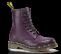 Wholesale Authentic Dr MTs PURPLE SMOOTH Womens Genuine Leather Shoes Ankle Marten Boots Shoes R11821500