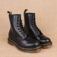 Half Boots dr martens boots - Authentic Dr MTs BLACK SMOOTH Women s Men s Genuine Leather Boots Shoes Ankle Marten Boots Shoes