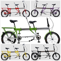 Wholesale Telescopic Folding Tandem Bike Built For Two Foldaway Bicycle as Best Valentines Gift High Quality