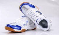 Wholesale New Arrival The Anniversary Edition White blue and White red butterfly table tennis shoes win size