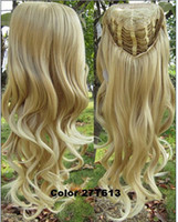 heat resistant hair - Heat Resistant Synthetic Wigs Half Wig Hair g quot Highlight Curly Wig Hairpieces with Comb Brown Blonde Wig Hair