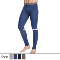 Wholesale Thin Comfortale Men s Long Johns Pants Modal Fabric Long Underwear for Winter Spring Autumn