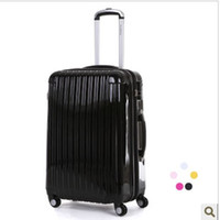 Wholesale 20 quot inch Business Man Women trolley suitcase luggage rolling spinner wheels ABS PC traveller case box Pull Rod trunk