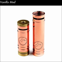 Electronic Cigarette 510 thread Red copper vanilla mod Newest Mechanical mod 1:1 clone Red Copper Vanilla Mod cig vaporizer pen ecig VS stingray X nemesis 26650 panzer fit kayfun 3.1 atomizer