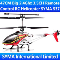 Cheap New Arrival SYMA S37 S301G Upgraded Version 47CM Big 3.5CH Coaxial 2.4G Electric Radio Remote Control Gyro RC Helicopter Metal Heli Copter