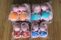 Unisex Spring / Autumn Plush 2014 hot pink pig family fluffy slippers peppa pig, George pig mom and dad indoor slippers, shoes are very popular