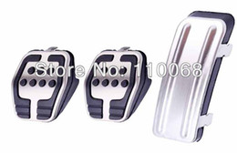 Wholesale 3PC Focus Stainless Car pedal Cover Pads for MT FORD FOCUS ST RS Clutch Gas Brake pedals auto accessories