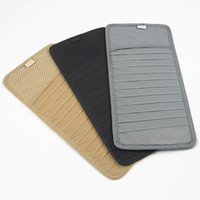 Wholesale none woven car cd dvd holder case box vehicle sun visor sleeve holder bag pouch
