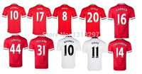 Soccer manchester - 2014 Manchester Home Soccer Jerseys Customized Football Soccer Jerseys Hot Sale Athletic Apparel Newest Mens Sports Apparels