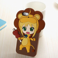 For Apple iPhone Silicone Black Wholesale - new for iphone5 5S cute cartoon silicone mobile phone case Cute doll Brown