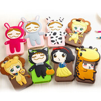 silicone dolls - new for iphone5 S cute cartoon silicone mobile phone case Cute doll