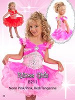 Wholesale Floral Sleeves Ruffled Skirt Pageant Gown with Flowers Appliques Ritzee Girls Organza Cupcake Girls Pageant Dress