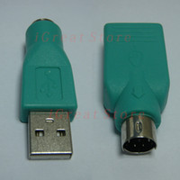 Wholesale PS Adapter PS2 Male Female to USB Female Male Converter Connector for PC Mouse Keyboard Mice