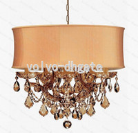 Wholesale 6 Light Maria Theresa Chandelier Antique Brass Polished Chrome Gold TSQ282