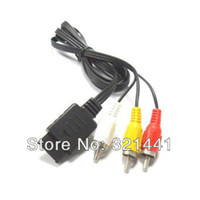 Wholesale AV Cable For PS2 PS3 Playstation Video Adapt Cable For PS2 PS3 Console