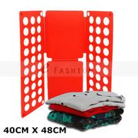 Wholesale Magic Convenient Children Multi colored Clothes Folder Organizer Flip Fold Folding Board Fast Speed Set