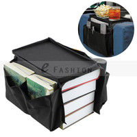 Wholesale New Convenient Pocket Sofa Couch Arm Rest Organizer Remote Control Holder Folding Storage Bag