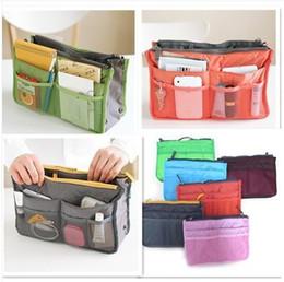 Wholesale-New Bag in Bag Cosmetic Handbag Organizer Insert Phone Case Polyester 5 Color