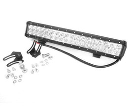 Wholesale 20 quot W CREE LED Light Bar Jeep Truck Trailer Spot Flood Beam working lamp x4 WD SUV ATV Off Road Car Work Working Lamp Combo Beam