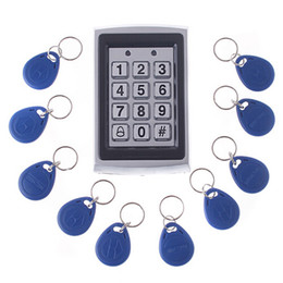 Wholesale RFID Entry Keypads Metal Door Lock Proximity Access Control management System Key Fobs H4391
