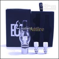 Kits Globo de cristal del tanque de cera seca hierba vaporizador E cigarro Clearomizer Glass atomizador para la serie Ego Batería E Cigarettes Cigarettes Vapor