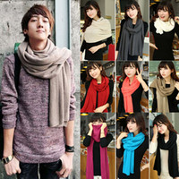 Wholesale 2014 Hot Colours Choose NEW Fashion Girl Lady Women s Men s Cashmere Knitted Lady Winter Scarf Scarves CA09104