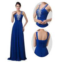 New Fashion Sexy V- neck Sleeveless Evening Dresses Long A Li...