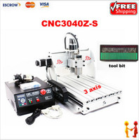 cnc router bits - Freeshipping CNC Z S axis Engraving Machine with tool bit Z S CNC Router For PCB Wood Other Materials