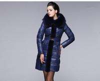 2014 Winter Fur collar Woman Large sizes Long Down coat Fais...