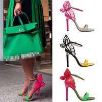 Wholesale Hot Vampire Celebrity Strappy Women Ankle Strap Shoes Butterfly High Heels Pumps Sandals jjm317