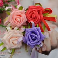 Wrist Corsage artificial flowers sale - Hot Sale Wedding Wrist Corsages Bridesmaid Flowers High Quality New Artificial Flower Adornment Silk Wedding Supplies for Maid