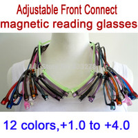 Wholesale hot sale Adjustable Front Connect Readers unisex reading glasses magnetic fashion men women s brand design reading eyeglasses