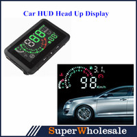 Wholesale 2014 Car HUD Head Up Display Vehicle mounted Security System With OBD2 W01