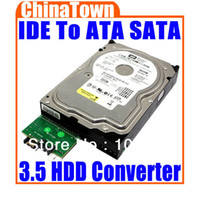 Wholesale IDE To Serial ATA SATA for HDD PC Adapter Converter Drop Shipping
