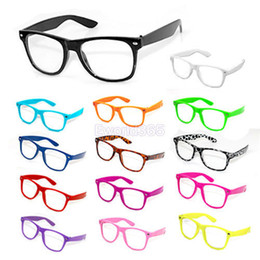 Wholesale 50xFashion Retro Vintage Unisex Clear Lens Wayfarer Nerd Geek Glasses Colors