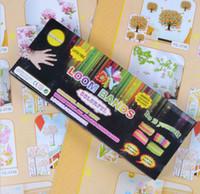 Link, Chain Celtic Children's Neon Candy Rainbow Loom Kit Charma DIY Educational Toys Rubber Band Glitter Wrist Bands rubber Mix Colors Unisex Bracelet 600pcs bands