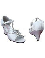 Cheap Wedding White Satin Best Heels High Heel Wedding Shoes
