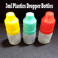 3ml 3ml plastic dropper bottle plastic Empty Bottle LDPE 3ml Plastic Dropper Bottle E Juice Bottle With Safety Cap And Long Thin Dropper Bottles For Electronic Cigarette 1000 Pcs