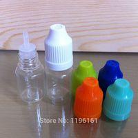 Plastic Acid Etch Pharmaceutical Whole factory!! 3500pcs 5ml clear Long thin tip plastic dropper bottle, Plastic e-juice bottle, plastic dropper bottle e liquid