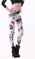 Lycra Mid Fashion East Knitting 2014 fitness punk clothing for women Legging Taegeukgi Korea Flag Digital Print Leggings brand pants s904