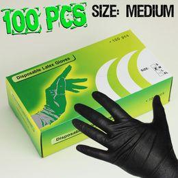 Wholesale Brand New Pro Pairs Small Tattoo Black Latex Glove Tattoo Supply Body Piercing Powder Free Size S