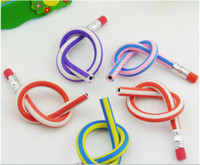 Red bendable pencils - Low Price cm bendable flexible soft fun pencil with eraser toys gifts prize kids school pc