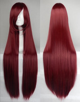 Cheap New Arrival 100CM Long Straight Hair Wig Cosplay Party Fashion Cheap Wig