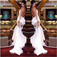 Reference Images best celebrity fashion - Spaghetti backless Mermaid Sexy Evening dresses Sweep train Fashion Best selling Celebrity dress Custom made Pageant dress New arrival