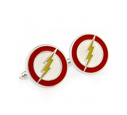Wholesale Television Original The Flash man cufflinks male French shirt cuff links pair Men Jewelry