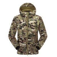 Hunting Men Polyester High quality Men's Lurker Shark skin Soft Shell Outdoor Military Tactical Jacket Waterproof Windproof Sports Army Clothing