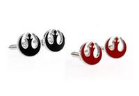 Wholesale 2 Color Men s Jewelry Superhero Cufflinks unique star wars design top quality copper stock cufflinks