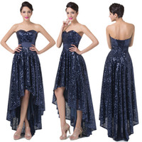 Brilliant Sequins Strapless Sweetheart High- low Prom Dresses...